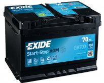Batteria Jeep Renegade AGM EXIDE 70ah 760A