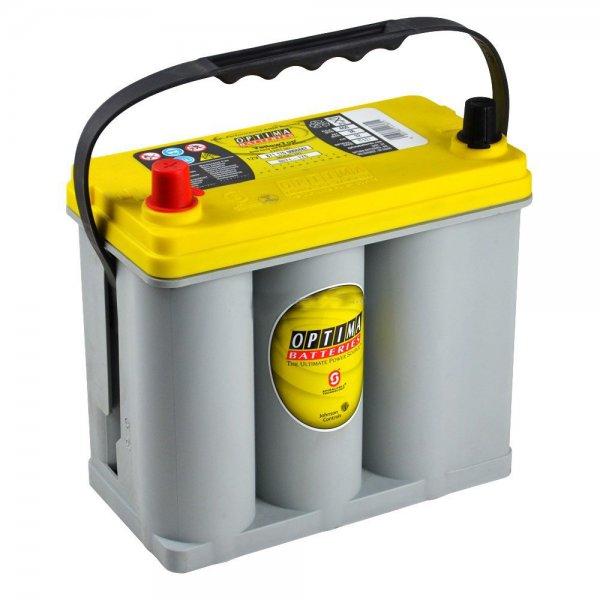 batteria optima hifi 38ah polo sx yellow top agm yts2.7 - fiat 500