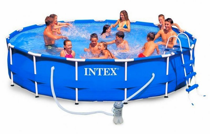 Piscina fuoriterra con struttura intex frame cm 457 x 91 for Intex accessori